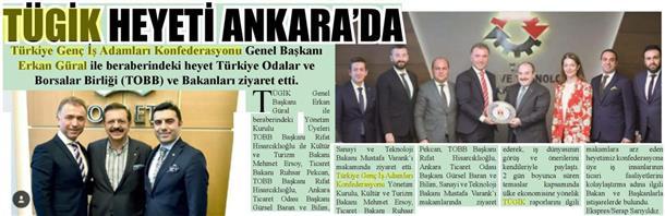 TÜGİK Heyeti Ankara'da
