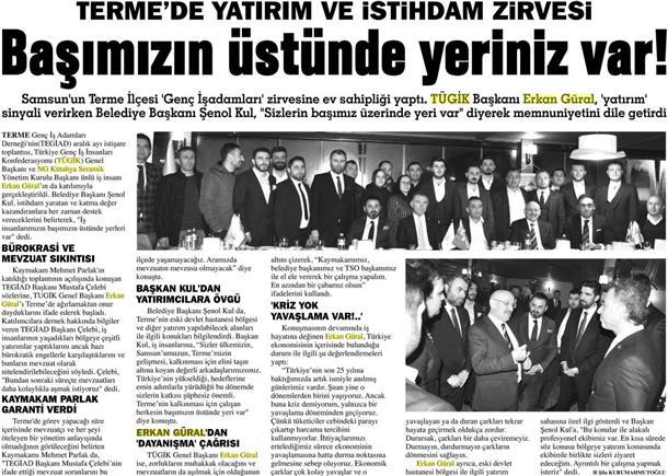 Erkan Güral, Terme'de dayanışma çağrısı yaptı.