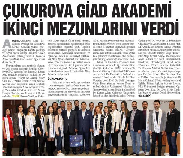 Çukurova GIAD Akademi ikinci mezunlarını verdi