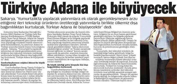 Türkiye Adana ile büyüyecek