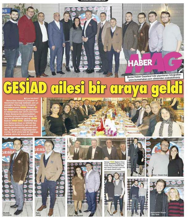 GESİAD yeni yıl yemeğini Erkan Güral ın katılımıyla gerçekleştirdi.