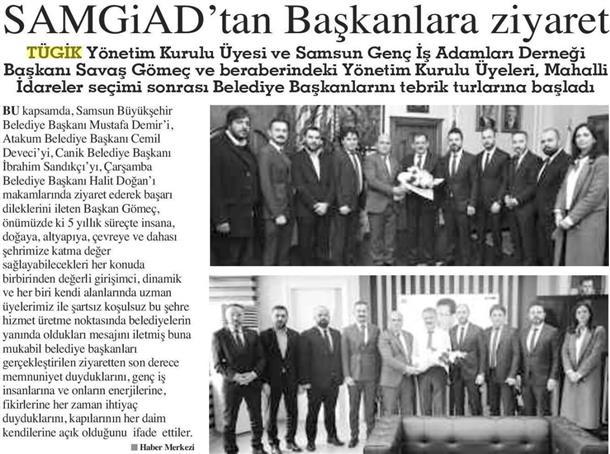 SAMGİAD'tan Başkanlara ziyaret