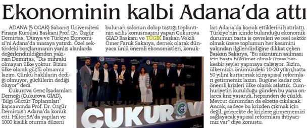 Ekonominin kalbi Adana'da attı