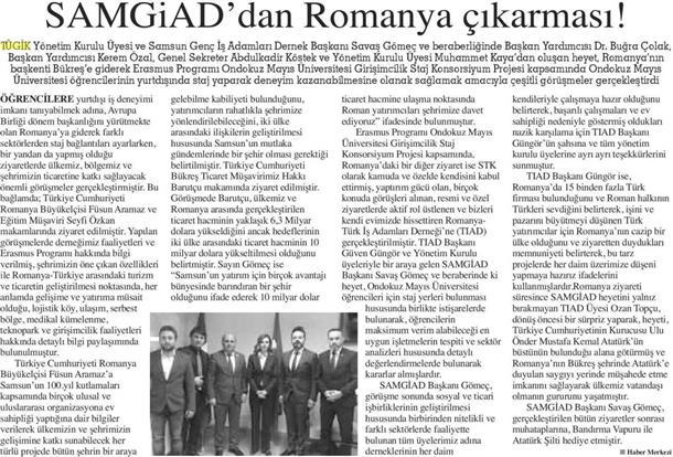 SAMGIAD'dan Romanya Çıkarması!