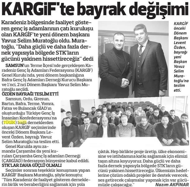KARGİF'te bayrak değişimi
