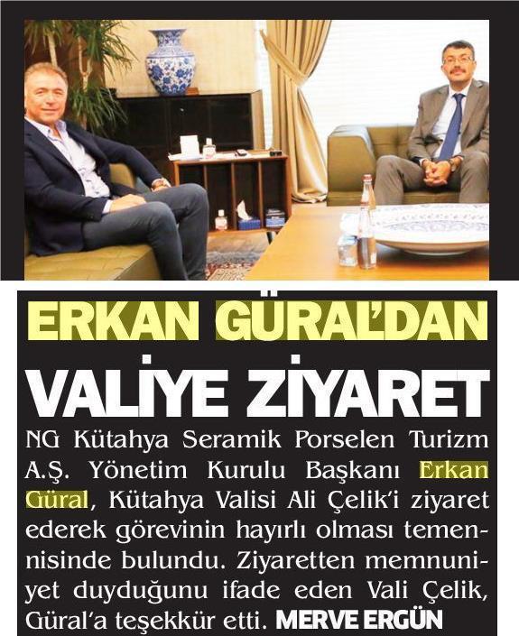 Erkan Güral'dan Vali Ali Çelik'e ziyaret