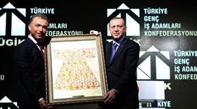 TÜGİK Mali Genel Kurulu Cumhurbaşkanı Recep Tayyip Erdoğan'ın katılımıyla gerçekleşti.