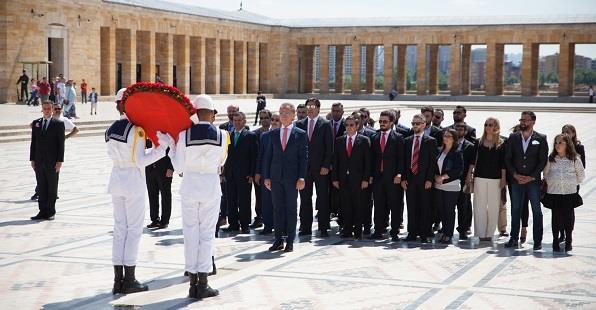 TÜGİK Anıtkabir ziyareti 20 Mayıs Cuma günü gerçekleştirildi