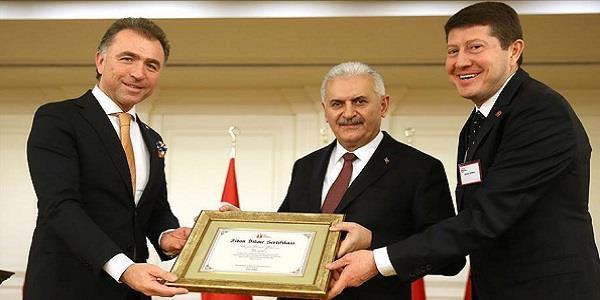 Başbakan Yıldırım, Çankaya Köşkü'nde TÜGİK heyetini kabul etti.