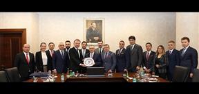TÜGİK Yönetimi Bakan Naci Ağbal'ı makamında ziyaret etti.