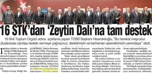 STK lar ortak basın açıklaması ile Afrin harekatına destek verdi..