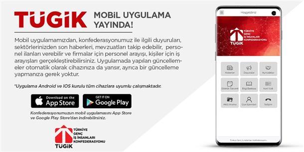 TÜGİK Mobil uygulaması yayında.