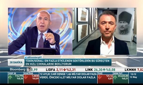 Genel Başkan Erkan Güral Bloomberg TV'de Sayın Ali Çağatay 'ın konuğu.