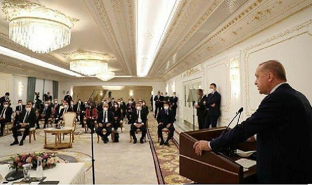 Cumhurbaşkanı Erdoğan, TÜGİK heyeti ile buluştu..