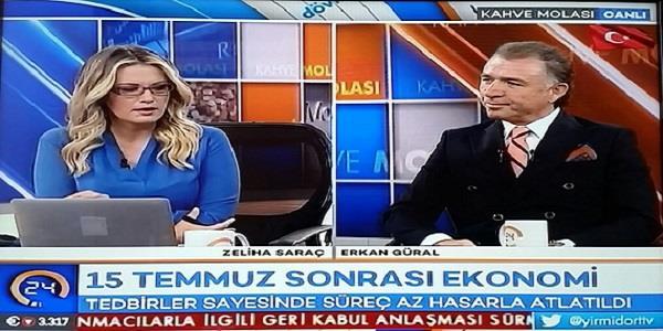 TÜGİK Genel Başkanı  Erkan GÜRAL, Kanal 24 TV'de canlı yayına katıldı