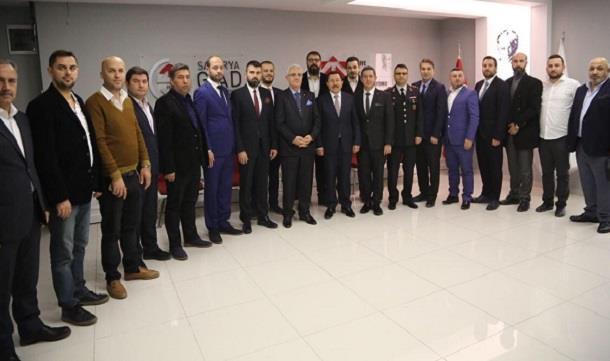 Vali Balkanlıoğlu Sakarya GİAD'ı ziyaret etti.