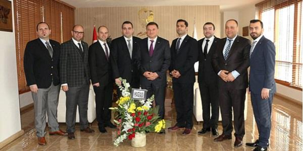 HAGİAD'dan, Belediye Başkanı Doç.Dr. Lütfü Savaş'a ziyaret