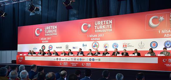 Üreten Türkiye Konuşuyor  toplantısı Adana'da