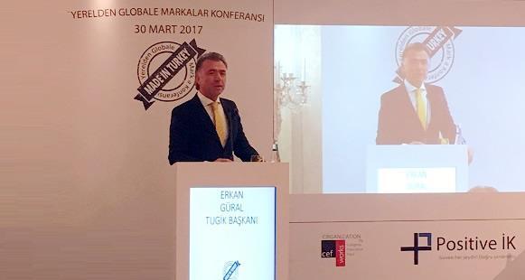 Yerelden Globale Marka Konferansı Sn. Erkan Güral 'ı ağırladı.