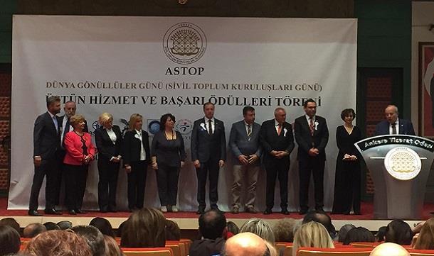 ASTOP  Dünya Gönüllüler Günü  ödül töreni.