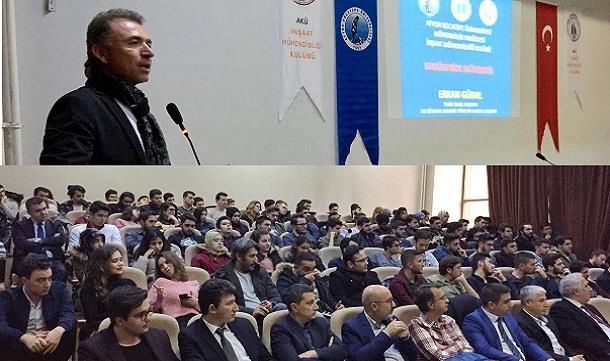 Erkan Güral AKÜ öğrencileri ile buluştu