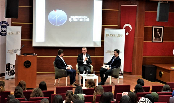 Erkan Güral, BossLife İş Liderleri Zirvesi'nde Marmara Üniversitesi öğrencileri ile
