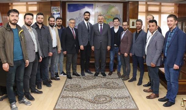 Bafra Giad'dan Bafra Belediye Başkanı Hamit KILIÇ'a hayırlı olsun ziyareti
