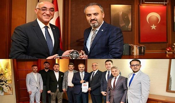 GESİAD 'dan Belediye Başkanı Sn. Alinur AKTAŞ'a ziyaret