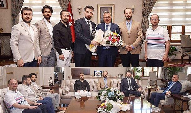 MAGİAD Yönetimi Vali Ahmet Denizi ziyaret etti..