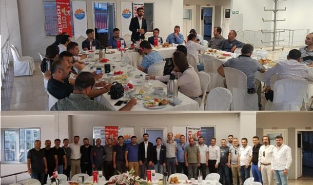 Bafra Genç İş Adamları Derneği üyeleri Sabah istişare Programında Buluştu.