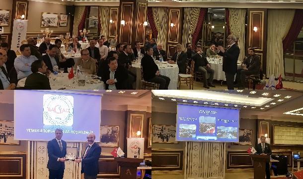 BAGİAD Yemekli Toplantısının konuğu Prof. Dr. Mustafa Sarı.