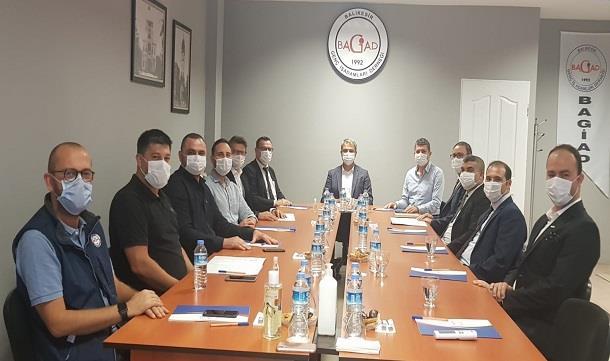 SGK Balıkesir İl Müdürü ve Denetmenleri BAGİAD'ı Ziyaret Etti