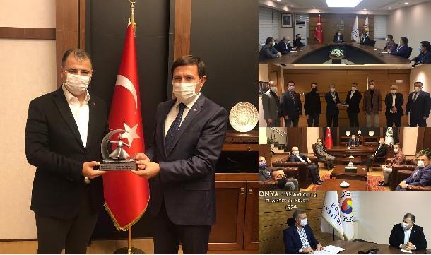 Konya Giad'dan, Konya Sanayi Odası ve Karatay Belediye Başkanlığına ziyaret..