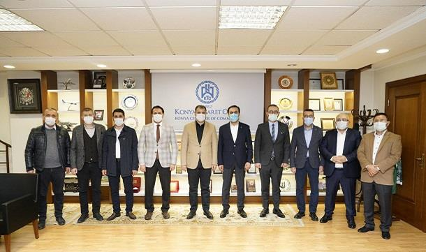 Konyagiad'dan KTO başkanı Selçuk Öztürk'e ziyaret.