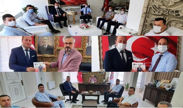 Bafra Giad'dan Kaymakam ve Belediye Başkanına Ziyaret.