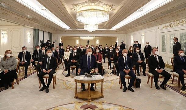 Cumhurbaşkanı Erdoğan, TÜGİK heyeti ile buluştu.