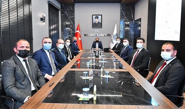 BAGİAD yeni Yönetim Kurulu, Vali Hasan Şıldak'ı ziyaret etti..